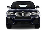 Straight front view of 2015 BMW X4 M sportpakket 5 Door SUV 2WD Stock Photo