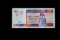 "Cuba, Havana.  ""Pesos Convertibles"", the pesos used by tourists in Cuba.  This is a 50 peso note."