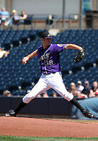 Akron Aeros Nick Pesco during an Eastern League game at Canal Park on April 15, 2006 in Akron, Ohio.  (Mike Janes/Four Seam Images)