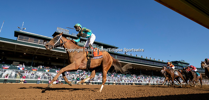 November 7, 2020 : Whitmore, ridden by Irad Ortiz, Jr., wins the Sprint on Breeders' Cup Championship Saturday at Keeneland Race Course in Lexington, Kentucky on November 7, 2020. Alex Evers/Breeders' Cup/Eclipse Sportswire/CSM