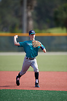 Joey Kurtz (63), from Westborough, Massachusetts, while playing for the Mariners during the Baseball Factory Pirate City Christmas Camp & Tournament on December 28, 2017 at Pirate City in Bradenton, Florida.  (Mike Janes/Four Seam Images)