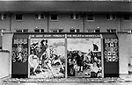 Wall painting mural. In God Our Trust The  Relief of Derry 1689. Derry 1970s...