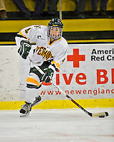 9 February 2008: University of Vermont Catamounts' defenseman Saleah Morrison, a Freshman from Selkirk, Manitoba, in action against the Boston University Terriers at Gutterson Fieldhouse in Burlington, Vermont. The Terriers shut out the Catamounts 2-0 in the Hockey East matchup...Mandatory Photo Credit: Ed Wolfstein Photo