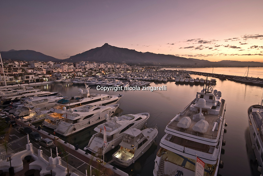Puerto Banús in one of the most exclusive marinas in Spain. Sitting near Marbella gives shelter to amazing yackts including those of the Morocco royal family.