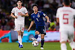 Shibasaki Gaku of Japan (C) in action during the AFC Asian Cup UAE 2019 Semi Finals match between I.R. Iran (IRN) and Japan (JPN) at Hazza Bin Zayed Stadium  on 28 January 2019 in Al Alin, United Arab Emirates. Photo by Marcio Rodrigo Machado / Power Sport Images