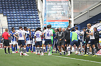Preston North End's Manager Alex Neil talks to his team<br /> <br /> Photographer Mick Walker/CameraSport<br /> <br /> The EFL Sky Bet Championship - Preston North End v Cardiff  City - Saturday 27th June 2020 - Deepdale Stadium - Preston<br /> <br /> World Copyright © 2020 CameraSport. All rights reserved. 43 Linden Ave. Countesthorpe. Leicester. England. LE8 5PG - Tel: +44 (0) 116 277 4147 - admin@camerasport.com - www.camerasport.com