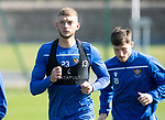 St Johnstone Training….13.09.19     McDiarmid Park, Perth<br />Liam Gordon pictured during this morning's training session ahead of tomorrow's game at Aberdeen<br />Picture by Graeme Hart.<br />Copyright Perthshire Picture Agency<br />Tel: 01738 623350  Mobile: 07990 594431