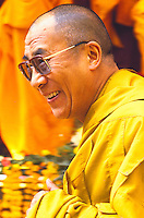 The Dalai Lama, political & spiritual leader of the Tibetan people, at the Kalachakra.