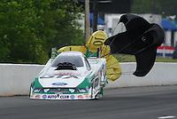 May 13, 2011; Commerce, GA, USA: NHRA funny car driver Mike Neff during qualifying for the Southern Nationals at Atlanta Dragway. Mandatory Credit: Mark J. Rebilas-
