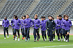 Players of Sanfrecce Hiroshima (JPN) in action during a training session on 22 February 2016, one day before the 2016 AFC Champions League Group F Match Day 1 match between SANFRECCE HIROSHIMA (JPN) vs SHANDONG LUNENG FC (CHN) in Hiroshima, Japan. Photo by Stringer / Lagardere Sports