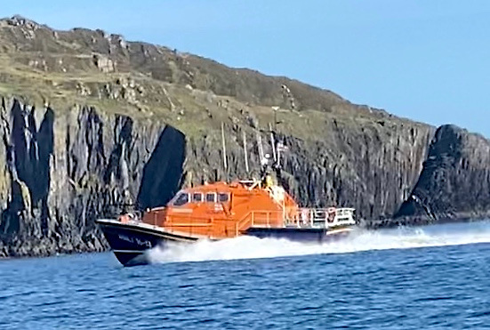Baltimore all-weather lifeboat on its way to North Harbour in Cape Clear