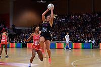 Silver Ferns' Gina Crampton in action during the International Netball - NZ Silver Ferns v England Roses at Te Rauparaha Arena, Porirua, New Zealand on Thursday 7 September 2017.<br /> Photo by Masanori Udagawa. <br /> www.photowellington.photoshelter.com