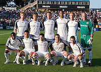 16 August 2008:  Revolution's starting XI is pictured before the game against the Earthquakes at Buck Shaw Stadium in Santa Clara, California.   San Jose Earthquakes defeated New England Revolution, 4-0.