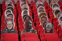 Cardboard cut out spectators, including Alan Carr, during the Sky Bet League 2 PLAY-OFF Final match between Exeter City and Northampton Town at Wembley Stadium, London, England on 29 June 2020. Photo by Andy Rowland.