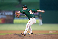 Greensboro Grasshoppers relief pitcher C.J. Robinson (26) in action against the Kannapolis Intimidators at Intimidators Stadium on July 17, 2016 in Greensboro, North Carolina.  The Grasshoppers defeated the Intimidators 5-4 in game two of a double-header.  (Brian Westerholt/Four Seam Images)