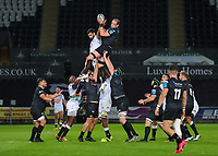 8th October 2021;  Swansea.com Stadium, Swansea, Wales; United Rugby Championship, Ospreys versus Sharks; Alun Wyn Jones of Ospreys wins the lineout ball