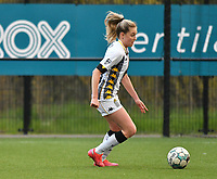 Renate-Ly Mehevets (15) of Sporting Charleroi pictured during a female soccer game between Sporting Charleroi and KRC Genk on the 4 th matchday in play off 2 of the 2020 - 2021 season of Belgian Scooore Womens Super League , friday 30 th of April 2021  in Marcinelle , Belgium . PHOTO SPORTPIX.BE | SPP | Jill Delsaux