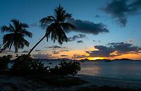 Sunset from Honeymoon Beach<br /> Virgin Islands National Park<br /> St. John<br /> US Virgin Islands