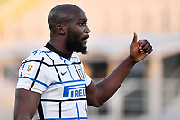 Romelu Lukaku of FC Internazionale reacts during the Italy Cup round of 16 football match between ACF Fiorentina and FC Internazionale at Artemio Franchi stadium in Firenze (Italy), January 13th, 2021. Photo Andrea Staccioli / Insidefoto