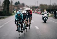 Magnus Cort Nielsen (DEN/Astana) & the breakaway group<br /> <br /> 71th Kuurne-Brussel-Kuurne 2019 <br /> Kuurne to Kuurne (BEL): 201km<br /> <br /> ©kramon