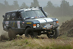 Range Rover Classic racing at the Rallye Dresden Breslau 2007. --- No releases available. Automotive trademarks are the property of the trademark holder, authorization may be needed for some uses.