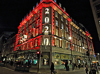 Piccadilly Department store Fortnum & Mason is famous worldwide and known as 'The Queen's Grocer', after having a TV documentary about it. Renowned for it's upmarket, luxury goods, each year it prides itself on lighting and decorating the grand store for Christmas. This year is no different despite the month-long Lockdown in England due to Covid-19. Piccadilly, London on November 4th 2020<br /> <br /> Photo by Keith Mayhew