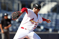 Peoria Javelinas pitcher Tyler Lyons #34 during an Arizona Fall League game against the Salt River Rafters at Peoria Sports Complex on November 2, 2011 in Peoria, Arizona.  Peoria defeated Salt River 4-2.  (Mike Janes/Four Seam Images)