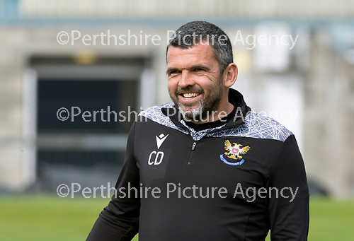 St Johnstone Training…..11.08.20  <br />St Johnstone manager Callum Davidson pictured during training at McDiarmid Park ahead of tomorrow night's game at Rangers.<br />Picture by Graeme Hart.<br />Copyright Perthshire Picture Agency<br />Tel: 01738 623350  Mobile: 07990 594431