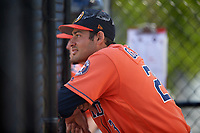 Houston Astros Roman Garcia (23) during a Minor League Spring Training Intrasquad game on March 28, 2018 at FITTEAM Ballpark of the Palm Beaches in West Palm Beach, Florida.  (Mike Janes/Four Seam Images)