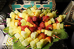 Fruit platters at the MD Anderson Children's Cancer Hospital, Bunny Hops and Photo Ops at The Galleria Saturday March 21,2016.(Dave Rossman Photo)