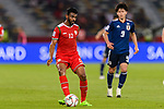 Ahmed Al Mahaijri of Oman in action during the AFC Asian Cup UAE 2019 Group F match between Oman (OMA) and Japan (JPN) at Zayed Sports City Stadium on 13 January 2019 in Abu Dhabi, United Arab Emirates. Photo by Marcio Rodrigo Machado / Power Sport Images