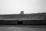 Pittsburgh PA:  View of Gate 19 at an empty Pitt Stadium. Pitt Stadium was located on the campus of the University of Pittsburgh in the Oakland section of Pittsburgh, Pennsylvania from 1925 to 1999.