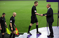 Pictured: Match referee Scott Oldham r(3rd L) Connor Roberts of Swansea City Monday 15 May 2017<br />Re: Premier League Cup Final, Swansea City FC U23 v Reading U23 at the Liberty Stadium, Wales, UK