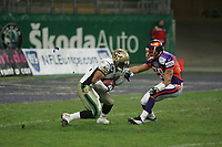 Robert Redd (Cornerback Berlin THunder) beim Kick-Off Return gegen James Taylor (Cornerback Frankfurt Galaxy)