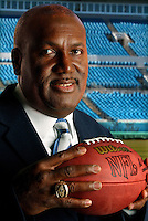 James Harris poses for a photograph after being introduced as the Jacksonville Jaguars new Vice President of Player Personnel.