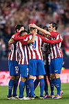 Angel Correa of Atletico de Madrid celebrates with teammates during their La Liga match between Atletico de Madrid and Granada CF at the Vicente Calderon Stadium on 15 October 2016 in Madrid, Spain. Photo by Diego Gonzalez Souto / Power Sport Images