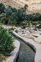 Wadi Bani Khalid, Oman.  Irrigation Canal (Falaj).