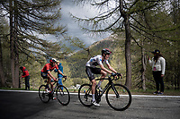 Maglia Bianca / best young rider Pavel Sivakov (RUS/Ineos) up the Colle San Carlo (Cat1/1921m/10.1km/9.8%)<br /> <br /> Stage 14: Saint Vincent to Courmayeur/Skyway Monte Bianco (131km)<br /> 102nd Giro d'Italia 2019<br /> <br /> ©kramon
