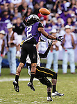 TCU Horned Frogs cornerback Jason Verrett (2) in action during the game between the Grambling State Tigers and the TCU Horned Frogs  at the Amon G. Carter Stadium in Fort Worth, Texas. TCU defeats Grambling State 59 to 0.