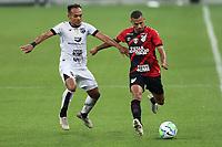 8th October 2020; Arena da Baixada, Curitiba, Brazil; Brazilian Serie A, Athletico Paranaense versus Ceara; Fabinho of Athletico Paranaense holds off Bruno Pacheco of Ceara