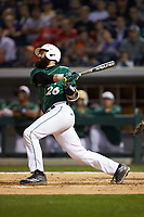 Derek Fritz (26) of the Charlotte 49ers follows through on his swing against the Georgia Bulldogs at BB&T Ballpark on March 8, 2016 in Charlotte, North Carolina. The 49ers defeated the Bulldogs 15-4. (Brian Westerholt/Four Seam Images)