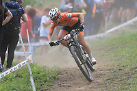 28th August 2021; Commezzadura, Trentino, Italy; 2021 Mountain Bike Cycling World Championships, Val di Sole;  Cross Coutry Olympic Woman, Anne Tauber (NED)