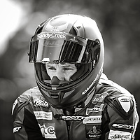 11th September 2021; Cookstown, County Tyrone, Northern Ireland, Cookstown 100 Road Races: Mike Browne has a quiet moment on the grid before the SuperSport race