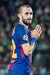Aleix Vidal of FC Barcelona reacts during the UEFA Champions League 2017-18 match between FC Barcelona and Sporting CP at Camp Nou on 05 December 2017 in Barcelona, Spain. Photo by Vicens Gimenez / Power Sport Images
