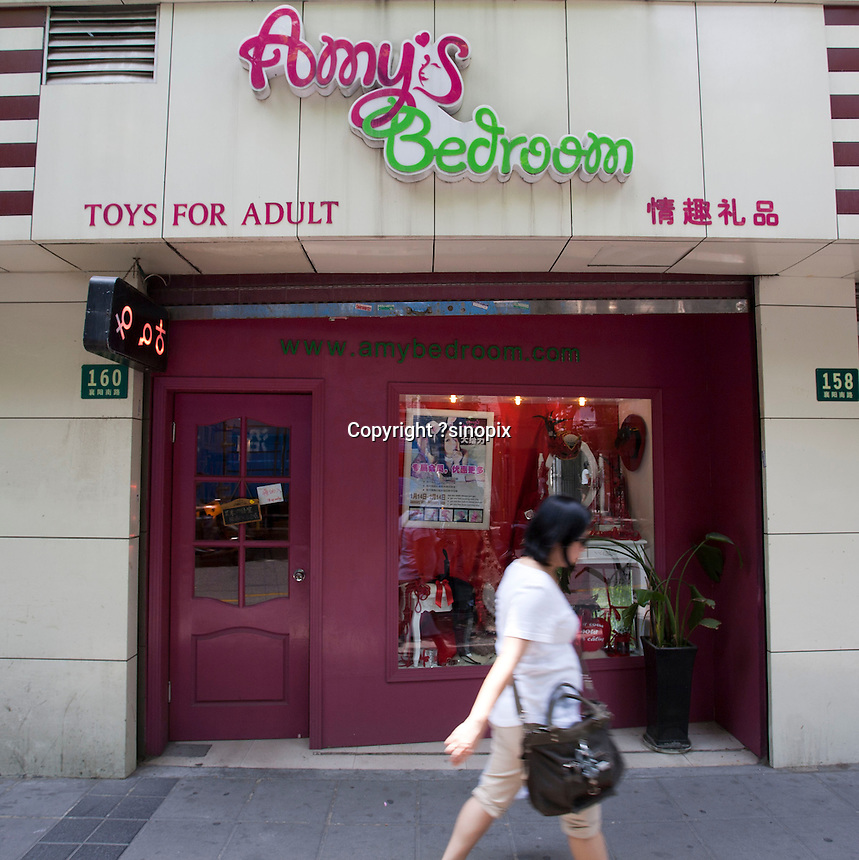 Amy's Sex Shop on Xiangyang Road. Series of images looking at 'Trendy Shanghai' By Jonathan Browning.