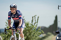 """Gianni Vermeersch (BEL/Alpecin-Fenix) over the final gravel sector of the day.<br /> <br /> 104th Giro d'Italia 2021 (2.UWT)<br /> Stage 11 from Perugia to Montalcino (162km)<br /> """"the Strade Bianche stage""""<br /> <br /> ©kramon"""