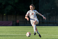 NEWTON, MA - AUGUST 29: Riley Lochhead #21 of Boston College brings the ball forward during a game between Boston University and Boston College at Newton Campus Field on August 29, 2019 in Newton, Massachusetts.