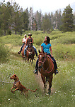 A horseback ride into Faith Valley, south of Hope Valley, Ca., on Monday, July 22, 2013. <br /> Photo by Cathleen Allison