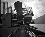 Client: Heyl and Patterson Company<br /> Ad Agency: Heyl and Patterson Marketing<br /> Product: Coal Handling and Processing Equipment<br /> Location: New Florence PA:  <br /> <br /> On location photography for Heyl & Patterson. Coal handling conveyor in position to pull coal up to the Conemaugh Power Plant. Founded in 1887, Heyl & Patterson is a leader in the design and construction of bulk transfer and thermal processing equipment for customers in a wide range of industries, including chemical, steel, biomass, energy, ports, and mining & minerals.