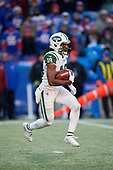 New York Jets Andre Roberts (19) returns a kick off during an NFL football game against the Buffalo Bills, Sunday, December 9, 2018, in Orchard Park, N.Y.  (Mike Janes Photography)